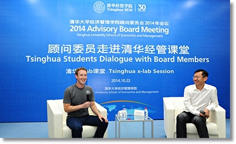 Mark Zuckerberg in a Q&A at Tsinghua University on 22 October