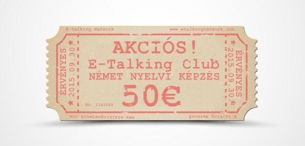 Akciós jegy 50€